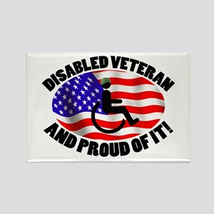 Proud Disabled Veteran Rectangle Magnet